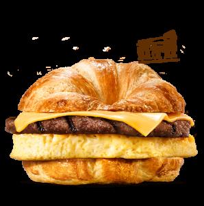 Круассендвич Гриль с яйцом, сыром и бифштексом