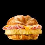 Круассендвич с яйцом, сыром и ветчиной